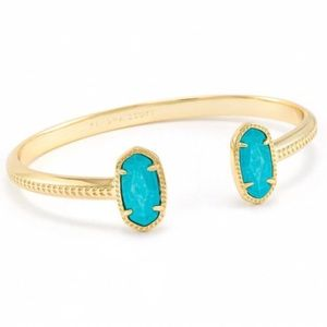KENDRA SCOTT • Gold Elton Turquoise Cuff Bracelet